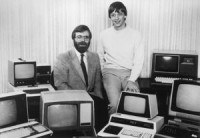 Paul Allen and Bill Gates in 1981. (Microsoft photo)