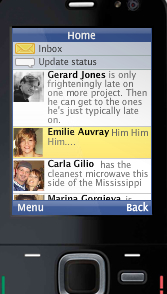 Snaptu's Facebook app for feature phones