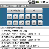 Fantasy Baseball Screen
