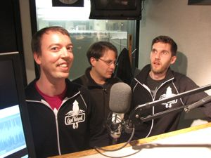 The Giant Thinkwell team on the GeekWire podcast earlier this year.