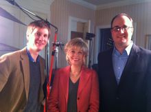 Team GeekWire with Lesley Stahl of 60 Minutes