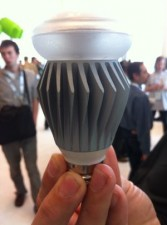 An intelligent LED bulb at Google I/O today. (Credit: Lighting Science Group)