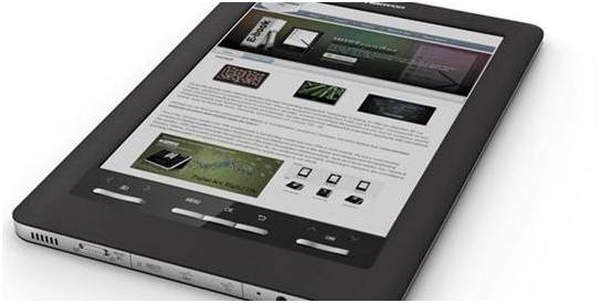 A stock image from E Ink showing its color display technology