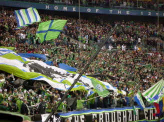 Sounders fans (Kurt Schlosser photo)