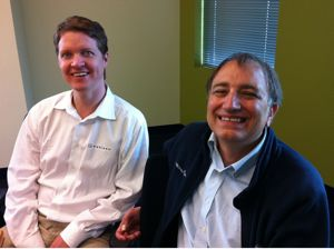 Christian Chabot (l) and Pat Hanrahan of Tableau Software