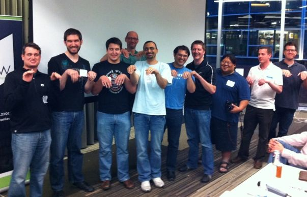 The team behind Rover.com at the 2011 Startup Weekend.