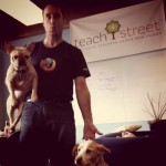 Dave Schappell with Stella and Zach at TeachStreet HQ