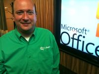 Findwell's Kevin Lisota at the Office 365 event in Redmond this morning.