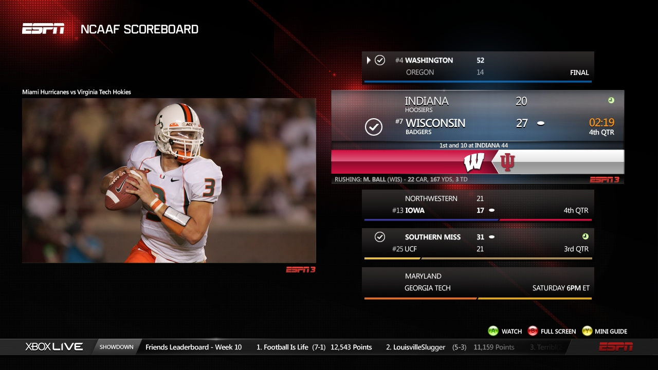 Espn Split Screen On Xbox Sports Overload In A Good Way Geekwire