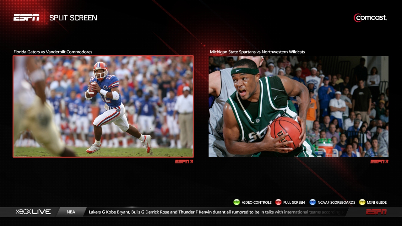 ESPN split screen on Xbox: Sports overload, in a good way ...