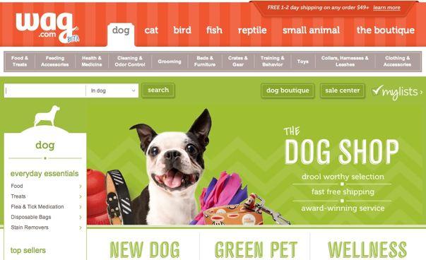 Online pet accessories shop