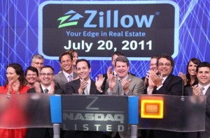 Spencer Rascoff and team Zillow ringing the opening bell on Nasdaq in July 2011.