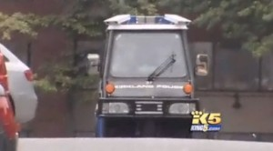 A parking meter maid on an enforcement patrol. Image via KING 5.