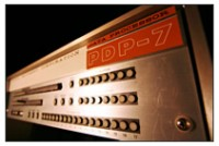 A Digital Equipment Corp. PD-P 7, one of many old computers in Allen's computer museum