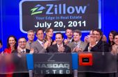 Team Zillow ringing the opening bell on Nasdaq last month