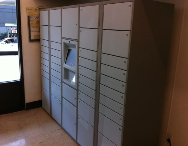 Amazon's new locker system at 7-Eleven store on Capitol Hill