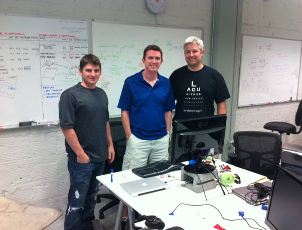 BigDoor executives Keith Smith, Matt Shobe and Jeff Malek at the company's offices in the South Lake Union neighborhood in 2012.
