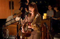Feist at Village Studios in LA. The singer's performance will debut on the Starbucks Digital Network.