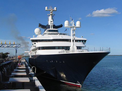 Paul Allen's yacht, Octopus will set forth on a different mission following the London Olympics. (Photo: Ken Hodge, via Flickr)