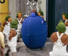 Don't get too big, too fast. (Via Willie Wonka and the Chocolate Factory)