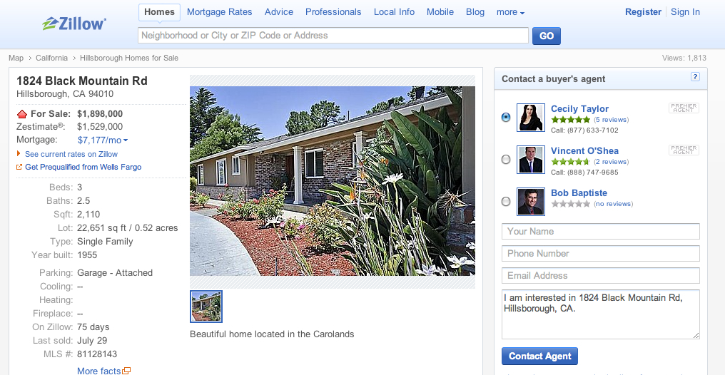 Trulia takes a swipe at the heart of Zillow, launches its own home