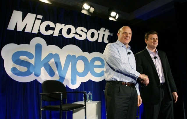 Microsoft's Steve Ballmer and Skype's Tony Bates. Have lessons been learned from aQuantive?