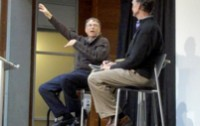 Bill Gates speaking at the University of Washington