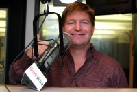 DoubleDown President Glenn Walcott in the KIRO-FM studios. (Erynn Rose photo)