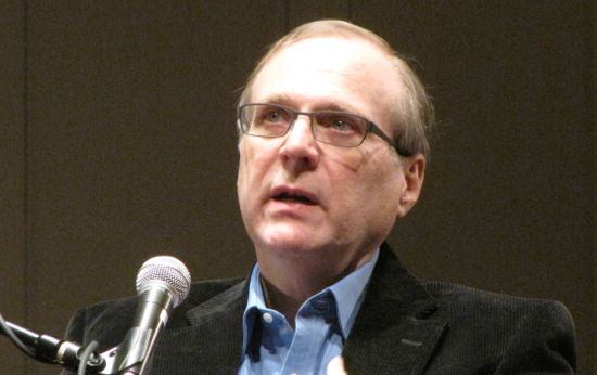 Paul Allen speaking at Seattle's Town Hall.