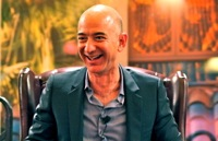 Why is Jeff Bezos so happy?