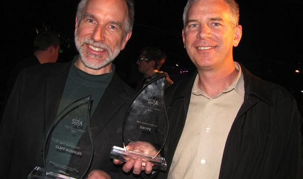 Swype co-founder Cliff Kushler and former Swype CEO Mike McSherry at the Seattle 2.0 Awards in 2011.