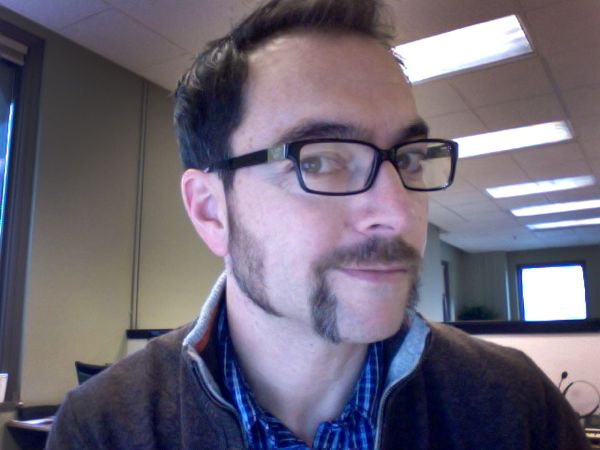 Gary Bedell sports some serious chops as last year's winner of the GeekWire Movember competition
