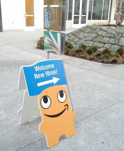 A sign outside Amazon's HQ in Seattle shows the company's amazing appetite for new hires. Photo: Matt Shobe