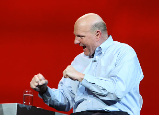 Microsoft CEO Steve Ballmer at CES in 2011. (Microsoft photo)