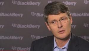 Blackberry CEO Thorsten Heins.