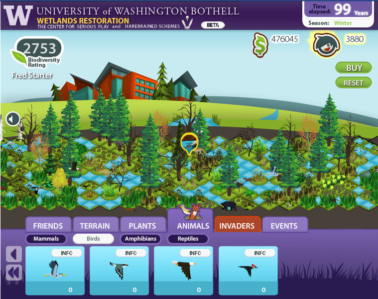 A FarmVille for wetlands? Students create Facebook game with