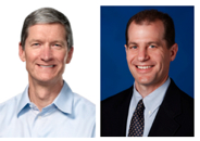 Apple's Tim Cook and Microsoft's Peter Klein