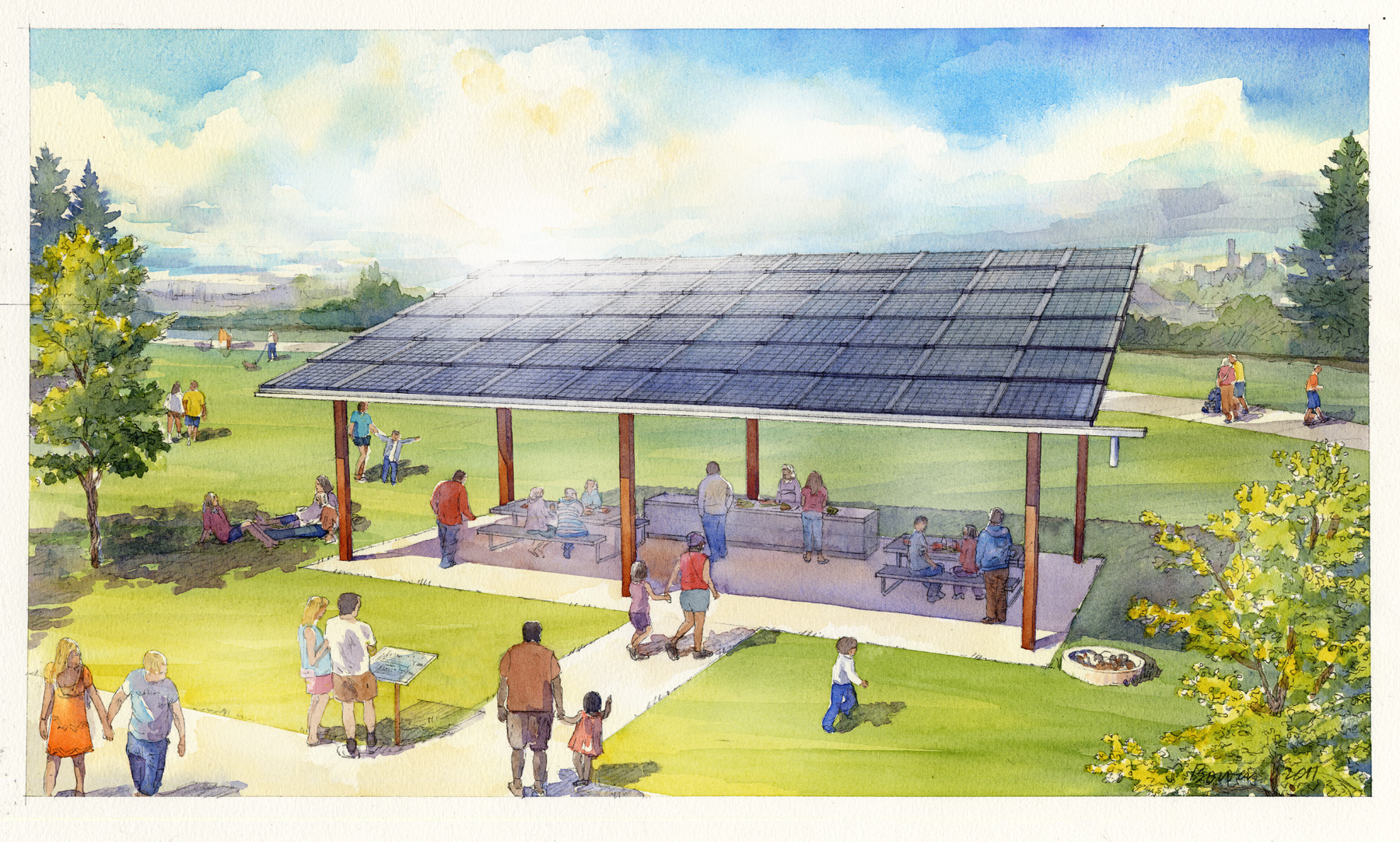 Coming To Seattle Picnic Shelters With Solar Panels