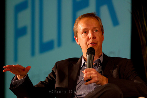 Cole Brodman, CMO of T-Mobile, speaks at the GeekWire Summit in Seattle (Karen Ducey Photography)