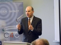 USPTO director David Kappos speaking at the University of Washington. Photo: Debbie Woo