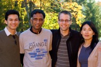 The Pansieve team: Galex Yen, Sethu Raman, Tomer Verona and Ping Wang.