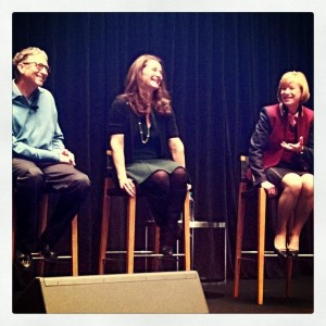 Bill and Melinda Gates introduce Susan Desmond-Hellman to Gates Foundation staff (via @melindagates)
