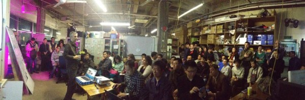 Brady Forrest speaking at the Shanghai hackerspace in November.