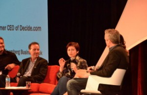 Hointer CEO Nadia Shouraboura speaks on the future of retail panel at the GeekWire Summit.
