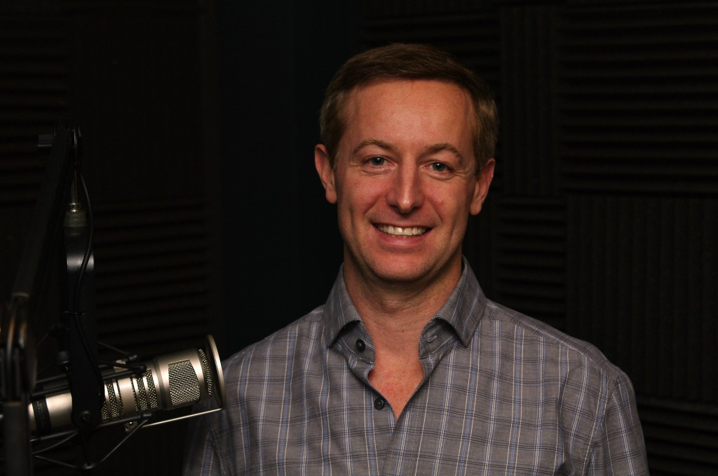 Sean Muller in the GeekWire radio show studio.