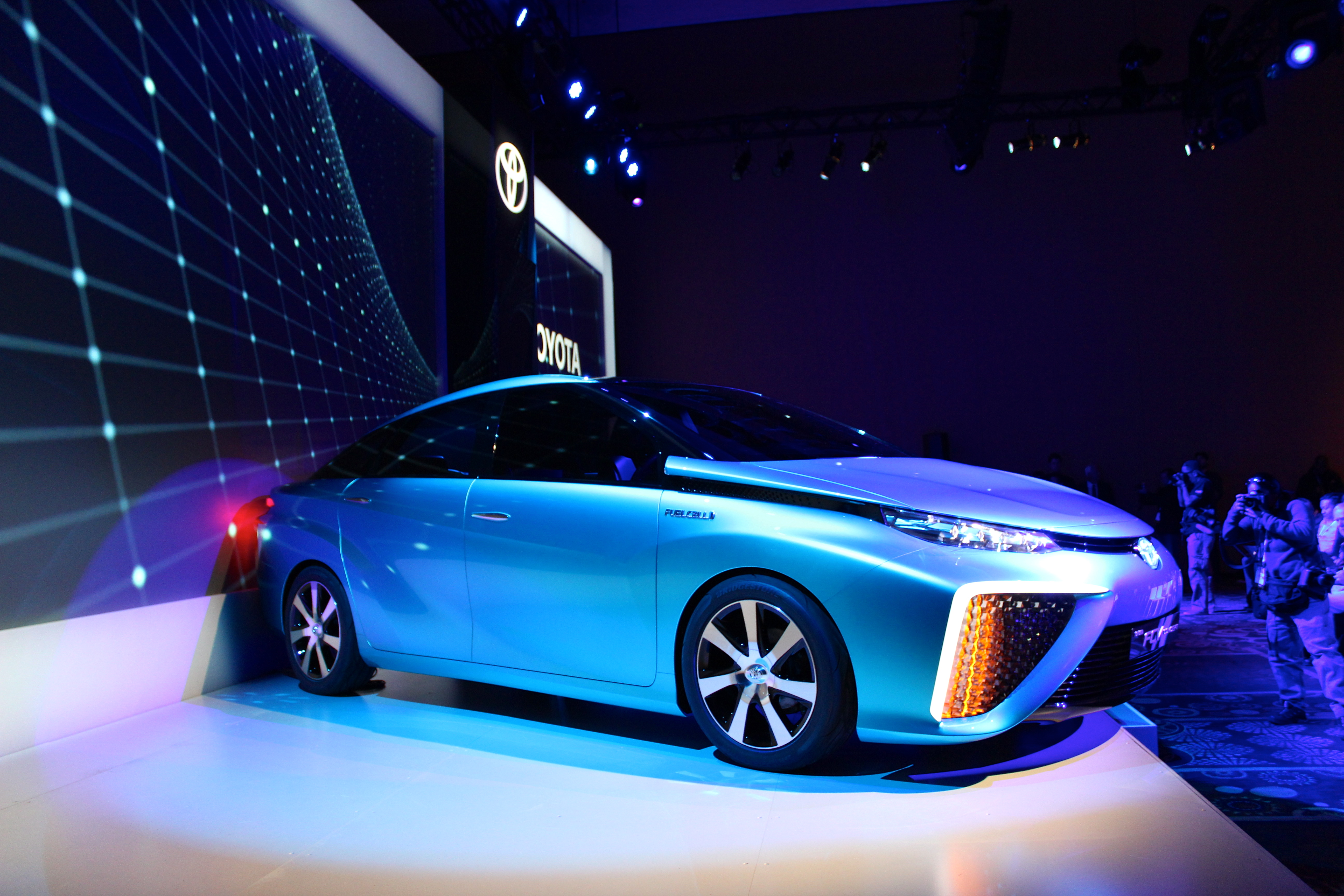 How Toyota's hydrogen fuel-cell cars could someday provide power to