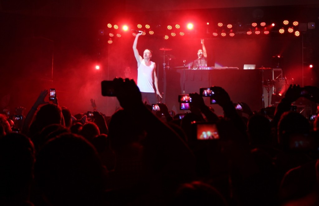 Macklemore & Ryan Lewis perform at a private AT&T party at CES.