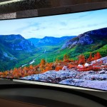 Samsung showed off its curved TVs at CES.