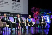 "Salesforce's Scott Dorsey, MillerCoors Andy England, Facebook's Carolyn Everson and Ford's James Farley speak at a CES keynote titled ""Brand Matters"" on Wednesday in Las Vegas."