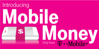 Introducing Mobile Money by T-Mobile Logo (Magenta)